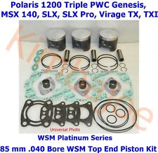 Polaris 1200 Triple PWC 85 mm .040 Bore WSM Platinum Pistons Bearings Gasket