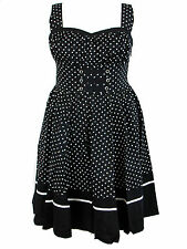 Plus Size Black White Polka Dot Flirty Retro Pinup Rockabilly Dress 1X 2X 3X 4X