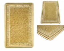 Beige Machine Washable Non-Slip Kitchen Floor Hall Mats Rubber Backed Rugs Mat
