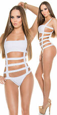 Women One Piece Monokini Bikini Push Up Bondage Top Bandage Swimwear Swimsuit UK