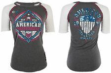 American Fighter AFFLICTION Womens T-Shirt FORT VALLEY Biker UFC Sinful $40