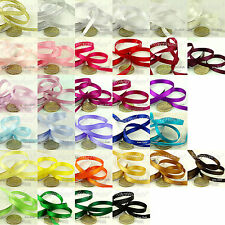 Reel of Satin / Organza Ribbon 3mm 6mm 10mm 15mm 32+ Colours Gift Wrapping Craft