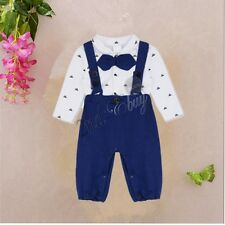 Xmas Newborn Baby Boy Girl Romper Outfits Jumpsuit Clothes Formal Gentleman Kid