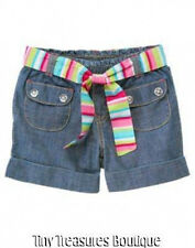 NWT GYMBOREE ICE CREAM SWEETIE CHAMBRAY SHORTS GIRLS SIZE 3 & 5 NEW