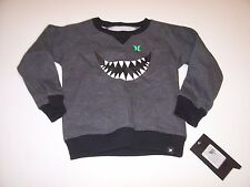 New Hurley boys charcoal gray black sweatshirt sweat shirt 12 m 18 m 24 months
