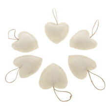 6Pcs Heart Shape Xmas Tree Party Ornament Wall Window Hanging Love Decoration