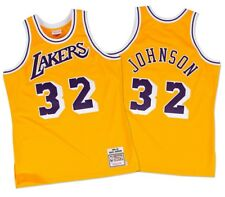 Magic Johnson Los Angeles Lakers Mitchell & Ness Authentic 1984 Gold NBA Jersey