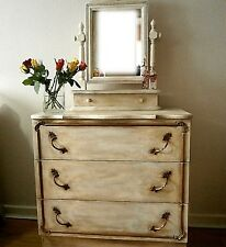 Stunning Dressing Table / Paint-layered Aged Patina/ Aged Gold Gilding