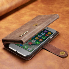 For iPhone 7 6S 6 Plus Leather Detachable Magnetic Wallet Card Flip Case Cover