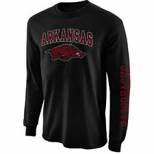 Arkansas Razorbacks Arch & Logo Long Sleeve T-Shirt - Black