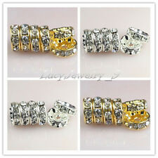 100pcs Straight Rondelle Grade A Crystal Rhinestone Spacer Beads 4/6/8/10mm pick