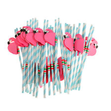 25pcs Hot Funny Straws Flamingo Striped Drinking Straws Cocktail Beach Party