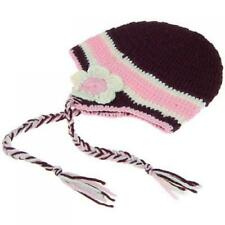 Children Beanie Hat Cap With Earflaps And Braids Handmade 70% Wool for 0-12 Yrs