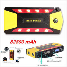82800mAh Car Jump Starter 4USB Emergency Charger Booster Power Bank Battery SOS