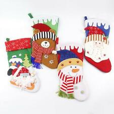 Novelty Christmas Stocking Christmas Sock Santa Snowman Xmas Tree Kids Gift Bags