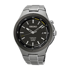 Seiko Analog Business Mens KINETIC  Grey  Watch SKA715P1