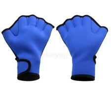 Neoprene Blue Paddle Gloves Webbed Fingerless Swimming Surfing Swim Gear S/M/L