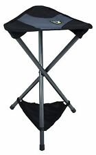 GCI Outdoor PackSeat in Black and Pink Portable Tripod Stool Aluminum Frame