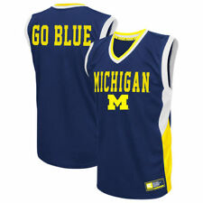Michigan Wolverines Colosseum Fadeaway Basketball Jersey - Maize - NCAA