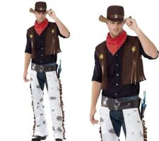 Texas Cowboy Mens Fancy Dress Costume Rodeo Outlaw Outfit M,L
