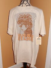 LUCKY BRAND BOB DYLAN ORIGINALS MEN'S GRAPHIC T SHIRT SILHOUETTE/ LYRICS OOP NWT