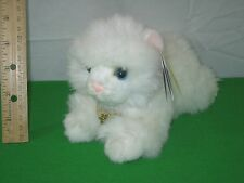 Miyoni Aurora Plush Animal Angora White Kitten with Tags