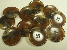 New Large imitation Amber Brown Tortoise Shell sizes 1 3/16,1 inch 7/8,13/16 #CI
