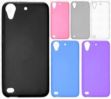 For HTC Desire 530 Frosted TPU CANDY Gel Flexi Skin Case Cover +Screen Protector