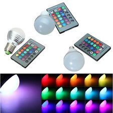 E14 GU10 E27 3W RGB LED 16 Color Changing Lamp Light Bulb + IR Remote Control