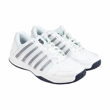 K-Swiss Court Impact Mens White Synthetic Athletic Lace Up Training Shoes