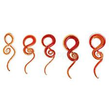 Chic Red Spiral Flesh Tunnel Ear Stretcher Expander Stretching Plug Accessory