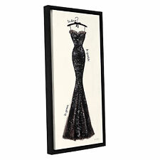 ArtWall 'Emily Adams's Couture Noir Original IV' Gallery Wrapped Floater-framed
