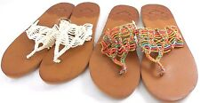 Roxy Surya Womens Sandals White Or Multicolored Choose Your Size Brand New