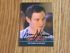 Aaron Ashmore Autographed Smallville Card Hand Signed Jimmy Olsen
