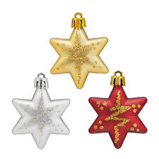 Christmas Tree Stars Decorations Baubles Xmas Party Wedding Ornament Gift CM