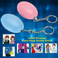 120db Personal Anti-Rape Anti-Attack Safety Security Panic Loud Alarm Pink V5Y2