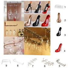 Stainless Steel Wine Glass Cup Rac +Resin High Heel Wine Bottle Champagne Holder
