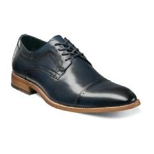 Stacy Adams Mens shoes Dickinson Cap Toe Oxford classic Navy Leather 25066-410