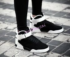 01 Mens Lace Up High Top Sport Bords Shoes Punk Cool Ankle Boot Floral Sneakers
