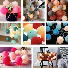 New 20LED Cotton Ball String Light Holiday Wedding Party Christmas Decoration