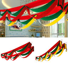 2/3/4/5M Christmas Wave Flags Banner With Bells Xmas Hanging Party Decor