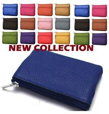 LADIES KIDS MEN Mini Small leather bag/pouch/wallet/coin/Key/purse /zip ' colrCn