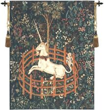Unicorn In Captivity Medieval European Art Tapestry Wall Hanging