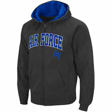Air Force Falcons Stadium Athletic Arch & Logo Full Zip Hoodie - Charcoal