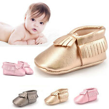 Unisex Girl Boy Infant Newborn Indoor Shoes Winter Crib Boots Toddler PU Leather