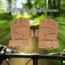 Outdoor Hard Knuckle Tactical Gloves Half Finger Sport Hunting Motorcycle W7O9