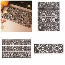 "Outdoor Decorative Rubber Stair Treads Antique Copper Scroll 30"" 48"" Or Doormat"
