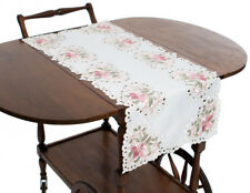 Manor Luxe Blush Embroidered Cutwork Table Runner