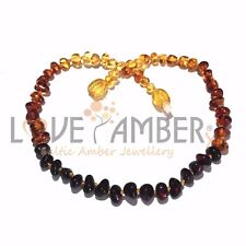 Adult Rainbow Bright Mixed Baltic Amber Necklace Love Amber X Uk Based Seller