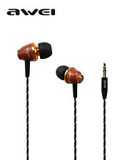 Awei ES-Q5 Super Bass Wooden Wood In-Ear Earphone Earbud for PC/MP3 iPhone